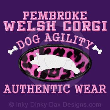 Pink Leopard Corgi Agility Shirt
