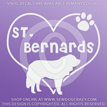 Love St Bernards Vinyl Decals