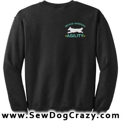 Belgian Sheepdog Agility Sweatshirts