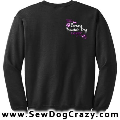 Pretty Embroidered Bernese Mountain Dog Lover Sweatshirts