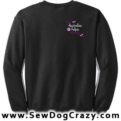 Pretty Embroidered Kelpie Sweatshirts