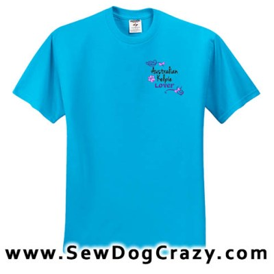 Pretty Embroidered Kelpie Tshirts