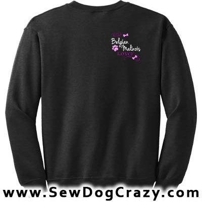 Pretty Embroidered Malinois Sweatshirts