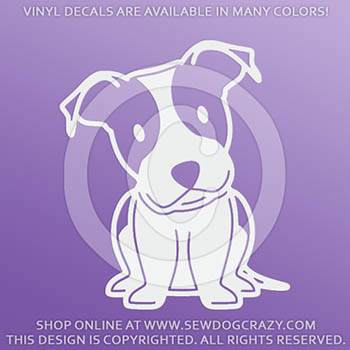 Cartoon Pit Bull Vinyl Stickers
