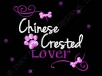 Rhinestones Chinese Crested Embroidery