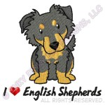 Embroidered English Shepherd Apparel