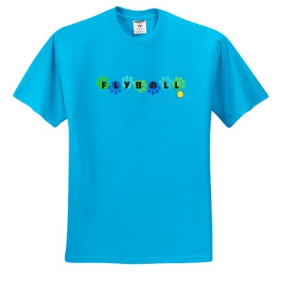 Colorful Flyball T-Shirt Embroidery