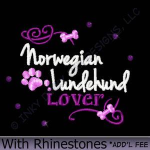 Rhinestones Lundehund Apparel
