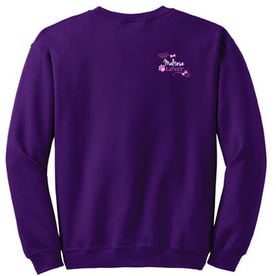 Embroidered Maltese Sweatshirt