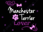 Rhinestones Manchester Terrier Embroidery