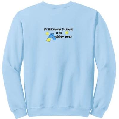 Norwegian Elkhound Agility Dog Sweatshirt