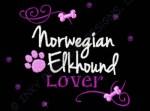 Rhinestones Norwegian Elkhound Embroidery