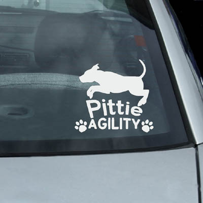 Pit Bull Agility Decals