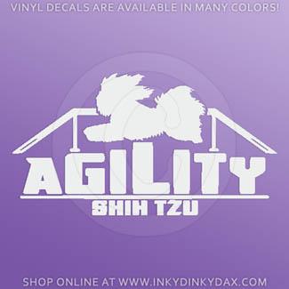 Shih Tzu Agility Dog stickers