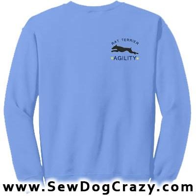 Embroidered Rat Terrier Agility Sweatshirt