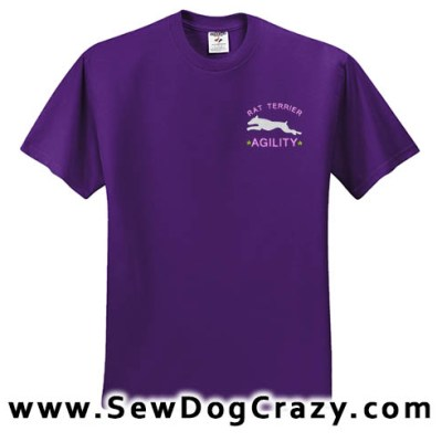 Embroidered Agility Rat Terrier Tshirt