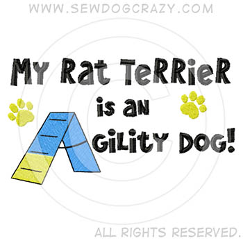 Rat Terrier Agility Dog Embroidered Shirts
