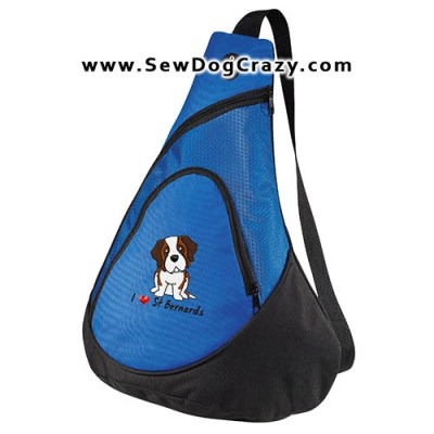 Embroidered Saint Bernard Bags