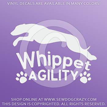 Whippet Agility Vinyl Decal