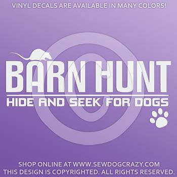 Barn Hunt Vinyl Stickers