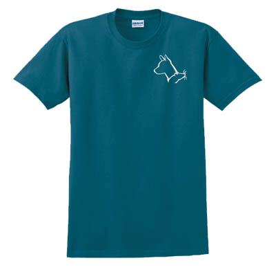 Embroidered Basenji barn Hunt t-shirt