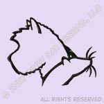 Cairn Terrier Ratting Embroidery