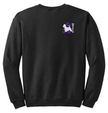Embroidered Westie Sweatshirt