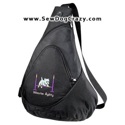Embroidered Westie Agility Bag