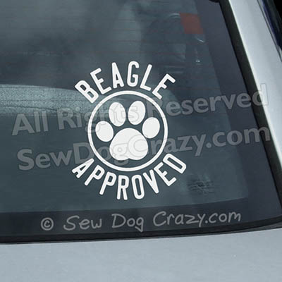 Beagle Approved Car Decals