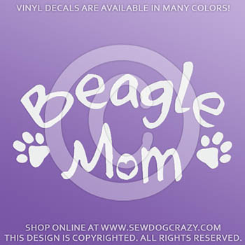 Vinyl Beagle Mom Decals