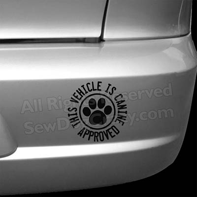 Canine Approved Bumper Sticker