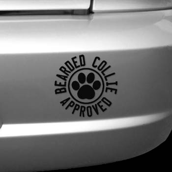 Bearded Collie Approved Decal