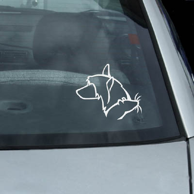 Chinese Crested Rat Decal