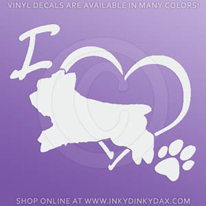 Yorkie Jumping Decal