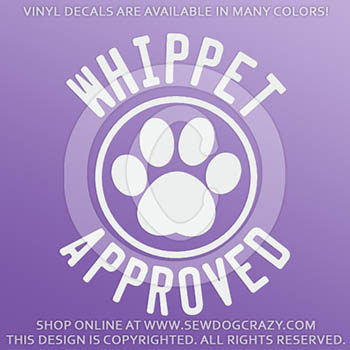 Whippet Approved Vinyl Stickers