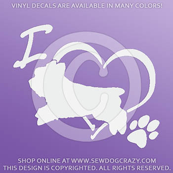 Love Yorkie Dog Sports Vinyl Decals