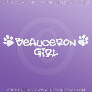 Beauceron Girl Decal