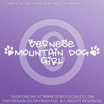 Bernese Mountain Dog Girl Stickers