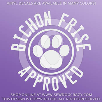 Bichon Frise Approved Vinyl Stickers