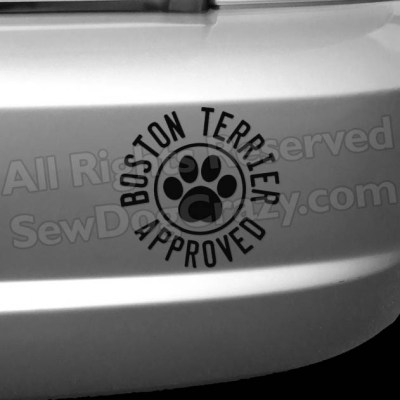 Boston Terrier Approved Vinyl Decals