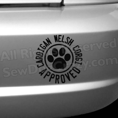 Cardigan Welsh Corgi Approved Decals