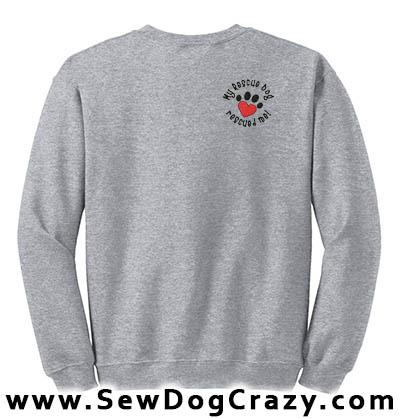 Embroidered Rescue Dog Sweatshirt