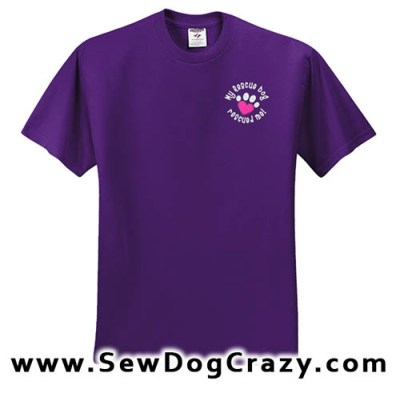 Embroidered Rescue Dog Tshirt