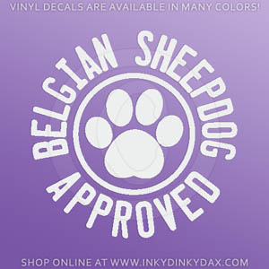 Belgian Sheepdog Decals