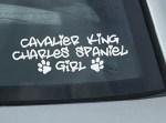 Cavalier King Charles Spaniel Girl Decal