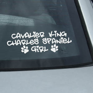 Cavalier King Charles Spaniel Girl Decal