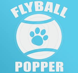 Custom Dog Flyball sticker