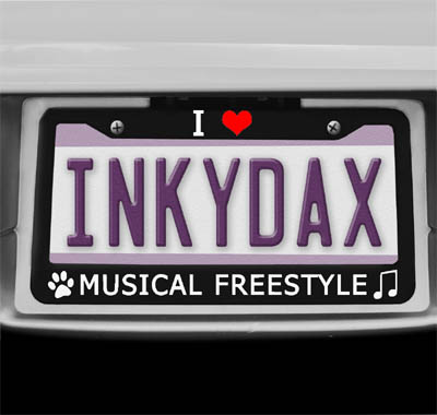 Musical Freestyle License Plate Frame