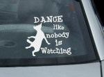 Dog Dancing Decal
