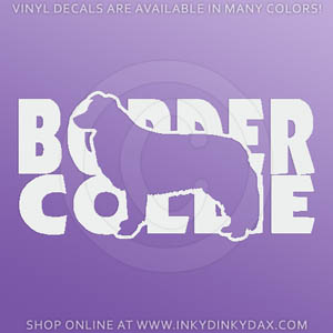 Cool Border Collie Decals